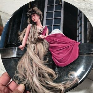 Rapunzel collectors plate numbered brother Grimm
